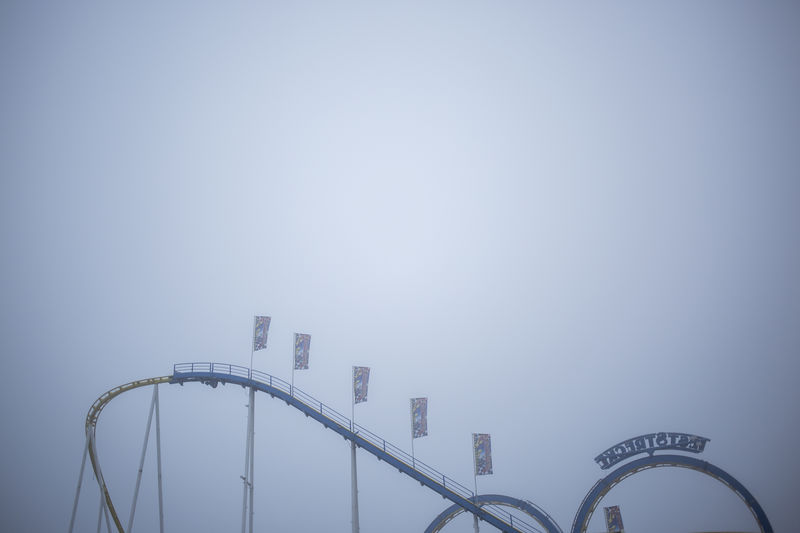 Amusement Park Business Finance And Industry Communication Day Foggy Hamburger Dom Misty Day Nature No People Outdoors Rollercoaster Sky Technology