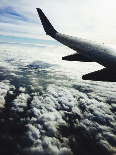 Flying Nubes Avion Vistas Cielo Nuvesdealgodon Airplane From An Airplane Window