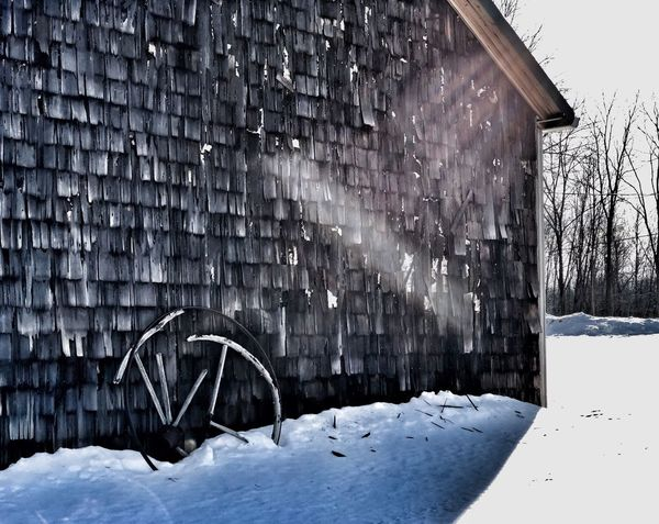 Shingle shack Iphone Eyeem Outside Photography Out In The Cold  Winter Scenes Snowscape Shadows & Lights Broken Broken Beauty Weathered Shingles Winter Snow Cold Temperature Weather House Built Structure Outdoors Building Exterior Architecture Snowdrift No People Snowing Beauty In Nature Day