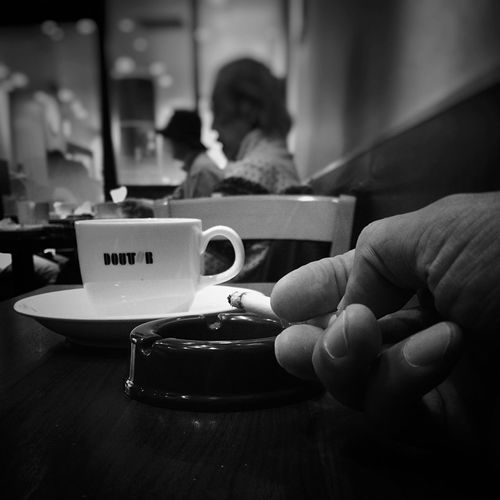 In The Cafe Cigarette  Coffee