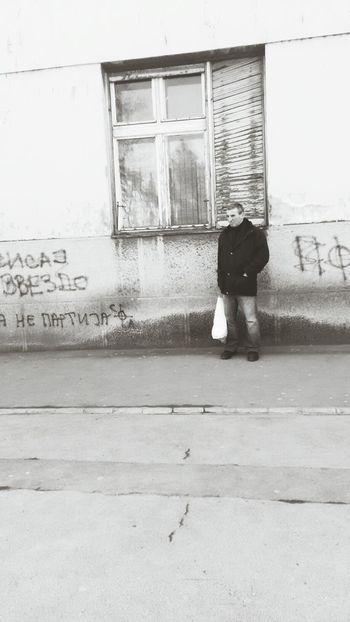 Belgrade Life Streetphotography Black & White Station Bus Waiting