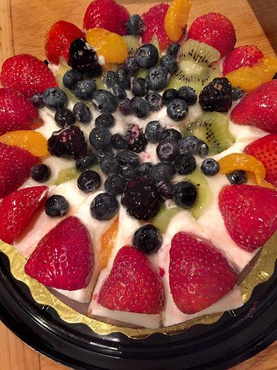 Large fruit tart from bakery Blueberry Cake Close-up Dessert Food Freshness Fruit Tart Fruits Kiwi Large No People Strawberry Sweet Sweet Food