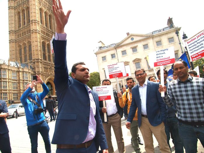 Anti Hostile environment protest. Parliament. London. 06/06/2018 London News Zuiko Olympus Steve Merrick Stevesevilempire Conservative Party Parliament Politics And Government Immigrant Rights Protest Immigration Protest Protest Protesters Hostile Environment London News