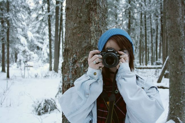 My muse is also a photographer Muse Camera - Photographic Equipment Young Adult One Person Photographing Photographer Outdoors Nature Tree Winter Hanging Out Canada Nature Focus On Foreground Bc Camera Snow Sports Finding New Frontiers The Portraitist - 2017 EyeEm Awards