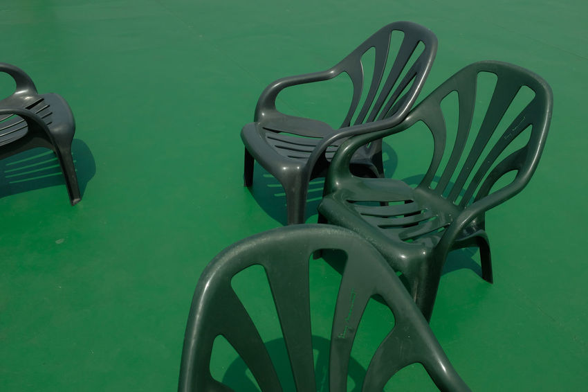 Green / chairs. Abstract Photography Chair Ferry Green Green color absence abstract arrangement boat Chair chairs colored background design empty green background Green color greenery In a row no people pattern plastic seat shadow steel still life Plastic Environment - LIMEX IMAGINE Summertime Summer Abstract Photography Chair Green Green Color Absence Abstract Arrangement Boat Chair Chairs Colored Background Design Empty Green Background Green Color Greenery In A Row No People Pattern Plastic Seat Shadow Steel Still Life Plastic Environment - LIMEX IMAGINE