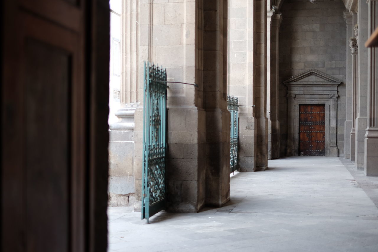 architecture, built structure, door, architectural column, history, no people, day, building exterior, indoors