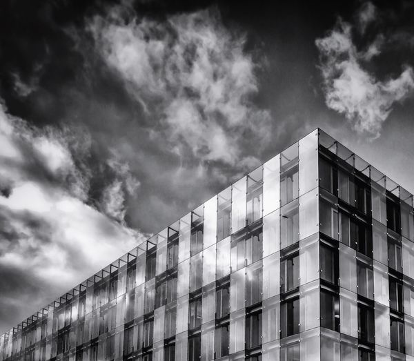--Building-- Architecture Building Exterior Built Structure Sky Low Angle View Cloud - Sky Modern