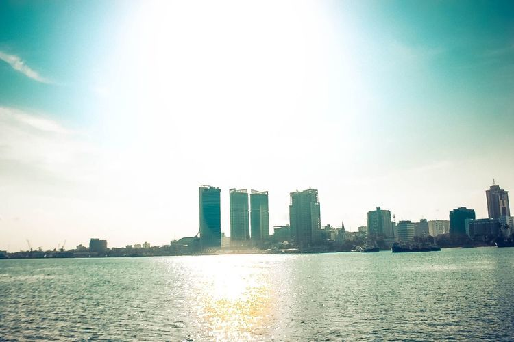 Twin towers buildings, Dar es Salaam Natural Light Ocean Photography Ocean View Sunrise Sunset Sky Building Exterior Architecture Built Structure City Water Building Office Building Exterior Outdoors Day Waterfront First Eyeem Photo