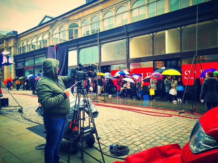 Ready Steady Go! Film Shooting Film Set Action United Kingdom Actors Advertising Agency Advertising People Umbrella Umbrellas Acting... Peoplescreatives Camera Man Shooting Day Shooting Barclays Creativity CreativityEveryday Up Close Street Photography Camera Actioncam Lights Creative Ideas