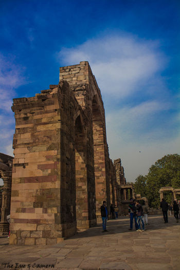 Historical Building Old Ruin Architecture Built Structure Ancient Outdoors Cultures India Man Made Structure Sky QutubMinar Delhidiaries Discover India Discover Your City Canon700D