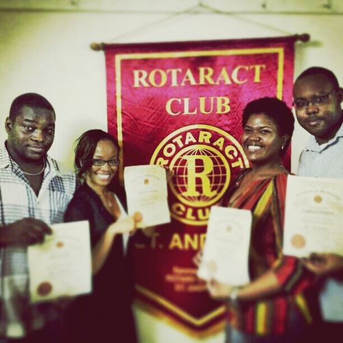Rotaract's new inductees