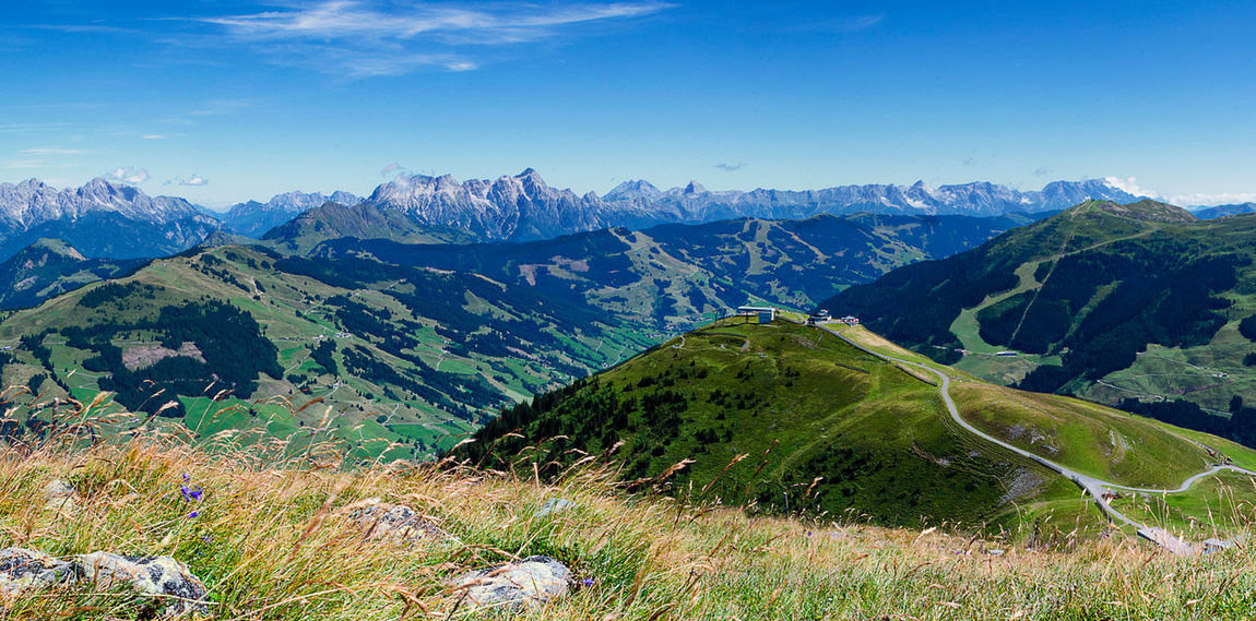 Mountains near Saalbach Hinterglemm in Austria. Alm Alps Austria Beauty In Nature Berge Day Grass Green Color Hinterglemm Landscape Mountain Mountain Range Nature No People Outdoors Saalbach Scenics Sky Tranquil Scene Tranquility Tree Österreich