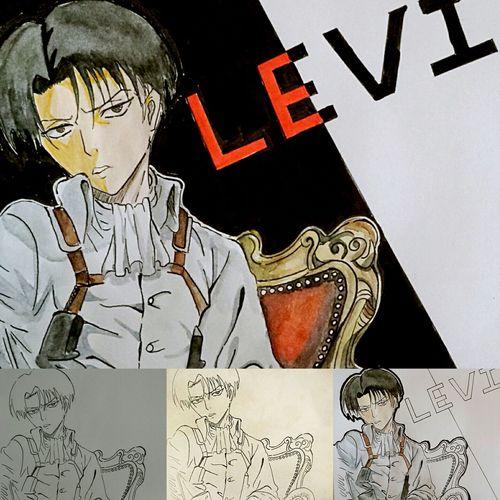 Sketch Doodle Otaku 兵長 Attckontitan Painting Drawing