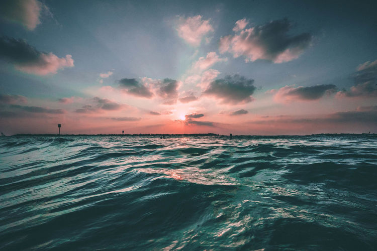 EyeEm Selects Water Wave Sea Sunset Beach Horizon Low Tide Nautical Vessel Multi Colored Summer