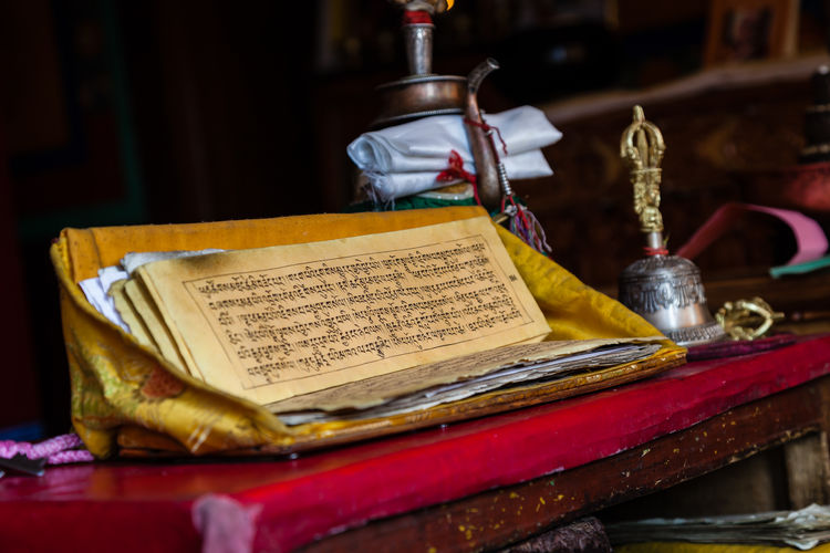 Prayer book Inside Spituk Gompa - Leh, Ladakh, Northern India Spituk Gompa Spituk Monastery Buddhist Monastery Buddhism Prayer Book Buddhist Scripture Tibetan Culture Leh Ladakh India Ladakh Indien India Eos5dmarkii Canon EOS 5D MkII The Week On EyeEm