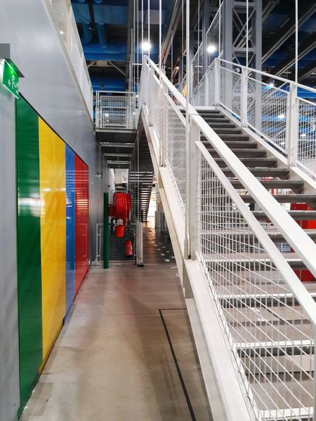 Stairs Stairs Geometry Lines Lines And Angles Colors Museum Pompidou Pompidou Center No People Arts Culture And Entertainment Paris, France  Color Indoors  Architecture Day