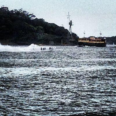 Chaz Mostert steers Australian title winningTeam Navy offshore powerboat on Sydney Harbour V8sc Dunlop Dvs Monsterenergy Teamnavy Sydney Harbour