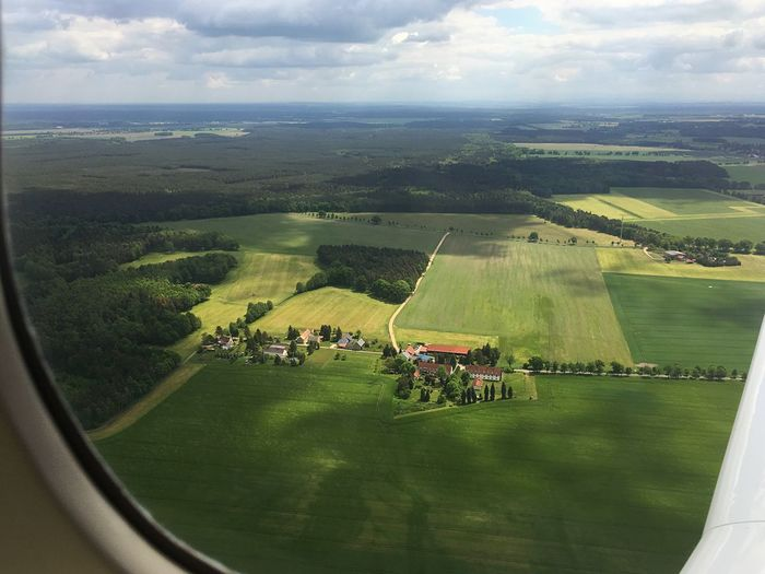 Landscape From An Airplane Window