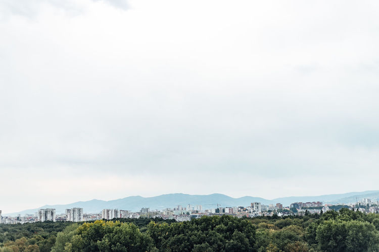 skyline of Sofia, Bulgaria Sky Tree Plant Building Exterior Built Structure Nature Cloud - Sky Architecture No People City Beauty In Nature Day Mountain Landscape Environment Scenics - Nature Copy Space Outdoors Green Color Growth Cityscape Skyline Urban Nature