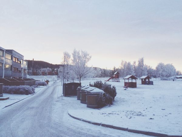 Today Morning Changing Weather Snow Norway Oslo Saturday morning
