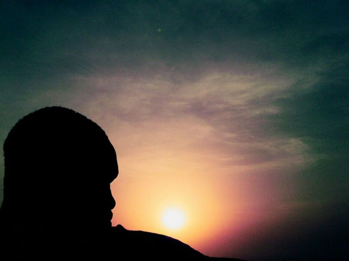 Silhouette Sunset Sky One Person Cloud - Sky One Man Only Only Men People Adults Only Adult Beauty In Nature Nature Star - Space Outdoors