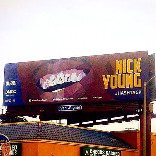 The city loves Nick Young. NickYoung Swaggyp Losangeles La Lakers