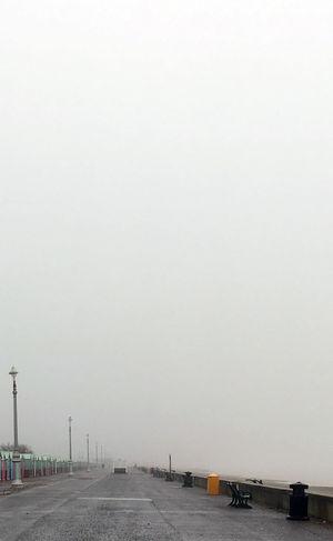 Cloudy Promenade Clear Sky Cold Temperature Empty No People Seaside