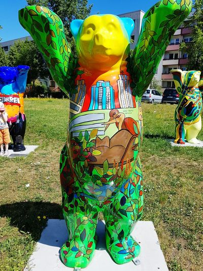 Multi Colored Bear Bears Of Berlin Berliner Bär Art ArtWork Tourismusziel