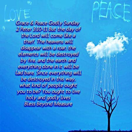 Grace & Peace Godly Sunday