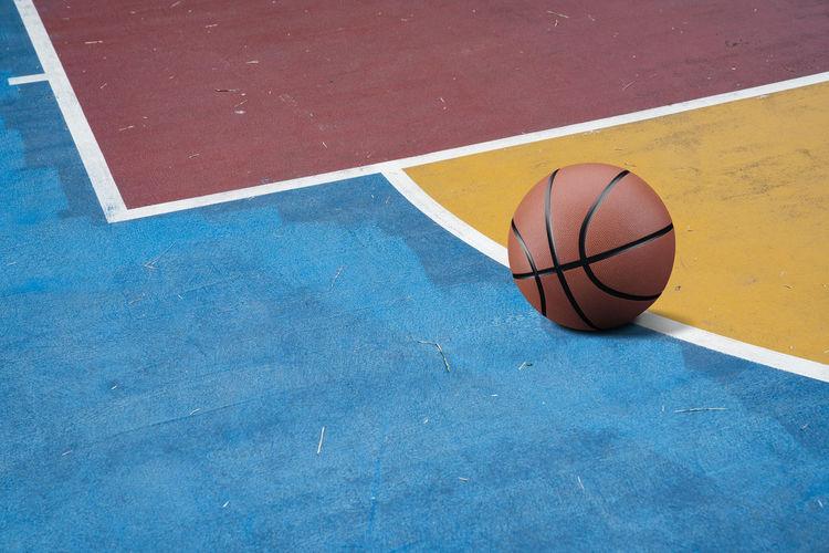 High angle view of basketball