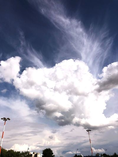 Airport Take Off Cloud - Sky Sky Low Angle View Nature Day No People Tree Beauty In Nature Outdoors Tranquil Scene