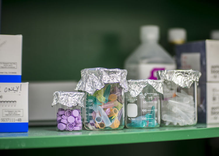 Beakers Dna Genetics Laboratory Laboratory Work Research Rna Science Selective Focus Still Life