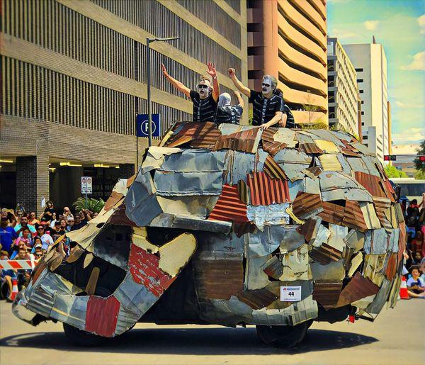 City Outdoors People EyeEmNewHere Art Cars Houston Art Car Show Houston Texas Art Skull Parade Downtown Downtown Houston The Street Photographer - 2017 EyeEm Awards