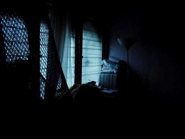 Indoors  Curtain Window Dark No People Taking Photos Bluehue Blue Bored Messy Desk MyRoom Desk