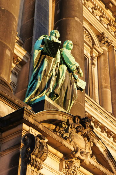 The land of poets and thinkers Architecture Art And Craft Berlin Berliner Dom Building Exterior Built Structure Cathedral City Day Europe Fine Art Statue Germany Holidays Low Angle View Museumsinsel No People Outdoors Sculpture Sightseeing Statue Tourism Travel Travel Destinations Traveling