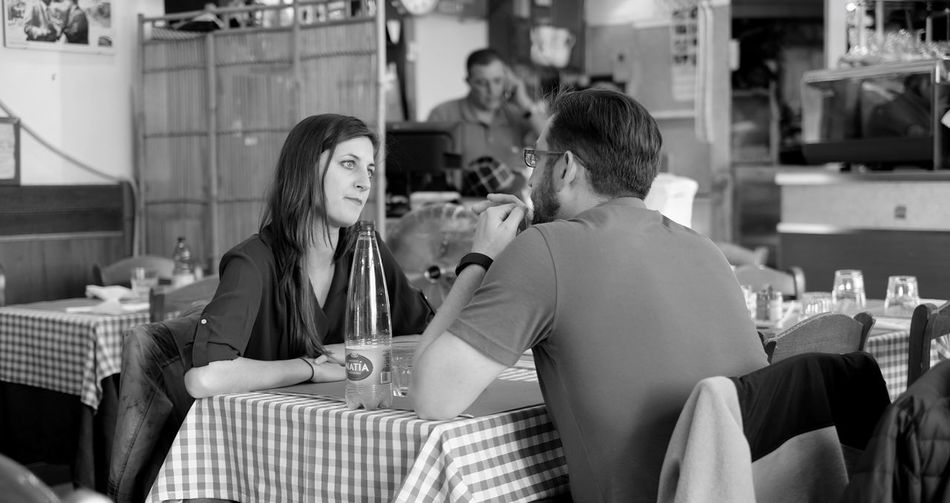 Showcase: January Lunch In Rome Candid B&w Street Photography