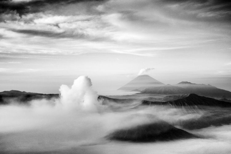 Black And White Hello World Photography Nature mt. Bromo - Indonesia