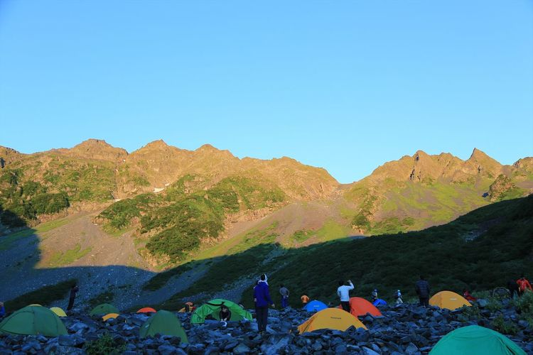 Morgenrot,Kamikochi Japan Camping Enjoying Life EyeEm Best Shots EyeEm Nature Lover Japan Landscape Mountains Nature Outdoors Sky 上高地 日本 自然 風景