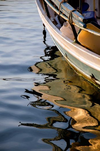 Close-up Day Moored Nature Nautical Vessel No People Outdoors Reflection Water