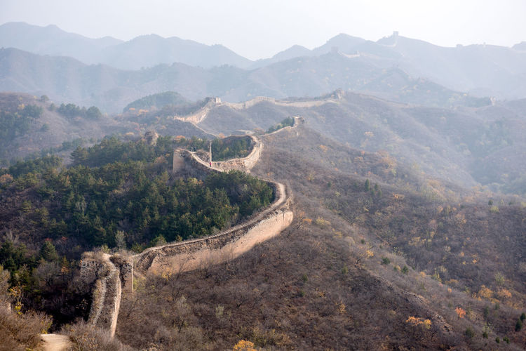 Aerial View Of Great Wall Of China
