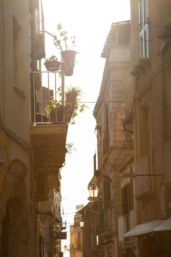 Architecture Building Exterior Built Structure City Day Low Angle View No People Outdoors Residential Building Street Light Tropea, City