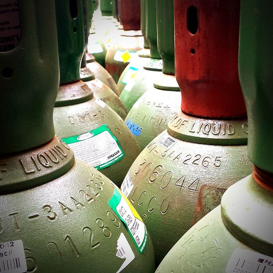 Compressed gas cylinders Urban Filter 4 Light And Shadow Artphotography Taking Photos Enjoying The View Compressed Gasses Tanks Cylinders Depth Of Field Green
