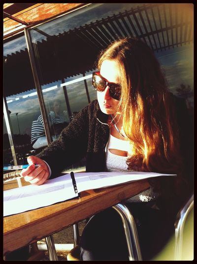 Studying in the sun First Eyeem Photo
