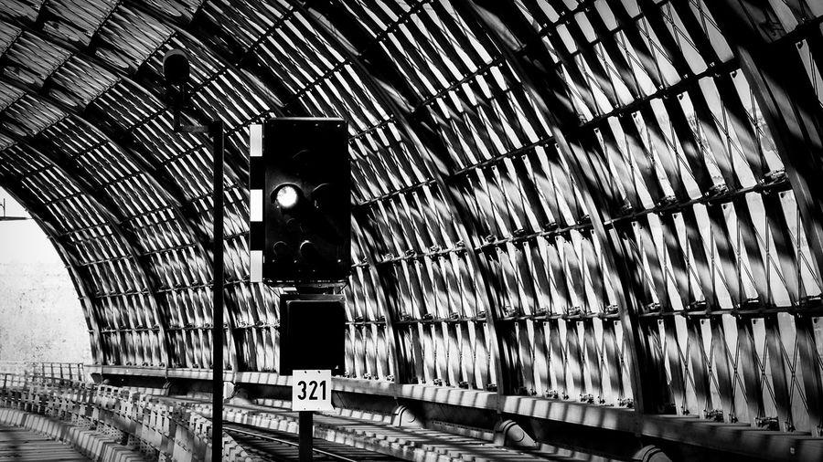 Railway Signal In Tunnel