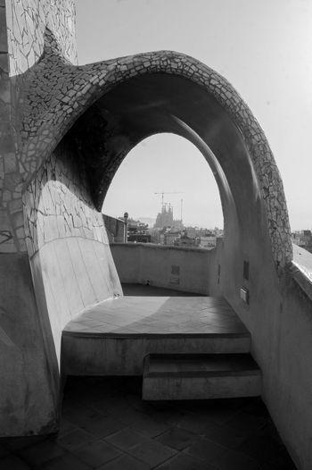 Rooftop Architecture Built Structure Casa Mila City Clear Sky History Sagrada Familia Travel Destinations