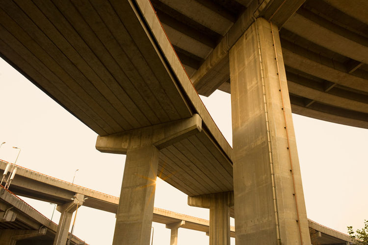 Overpass in Shanghai, China, Asia Asian  Overpass Road Shanghai Architectural Column Architecture Below Bridge - Man Made Structure Built Structure China Concrete Connection Engineering Expressway Freeway Highway Infrastructure Low Angle View Off Ramp On Ramp Ramp Strength Underneath