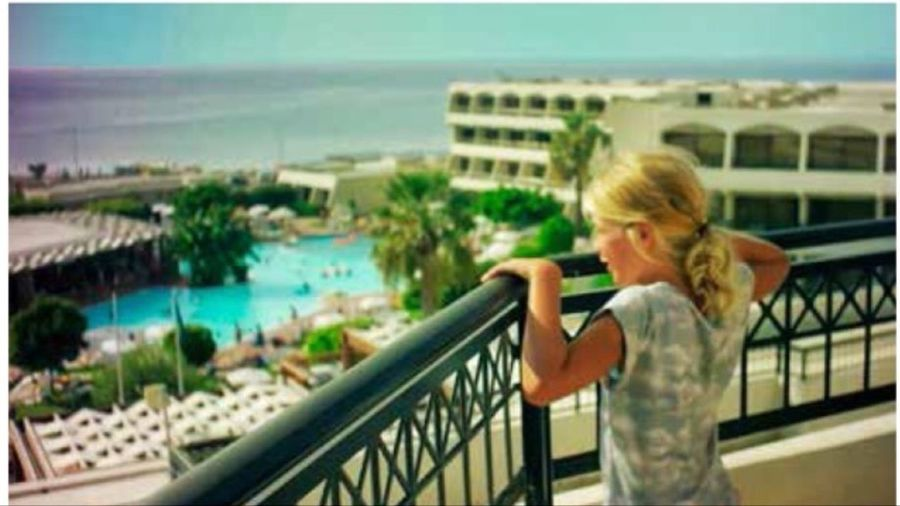 Picture of my sister at Rhodos
