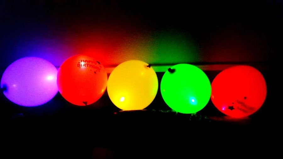 Close-up of multi colored balloons