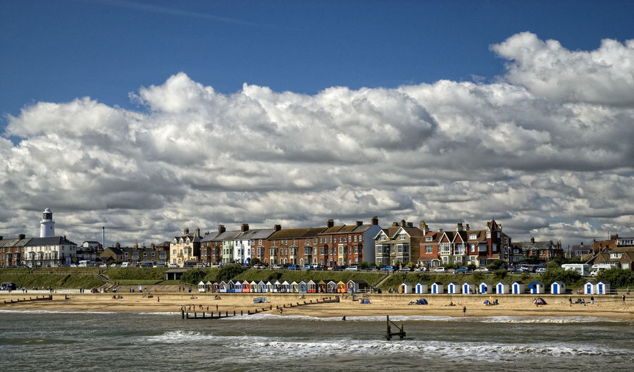 Beach Beach Photography Building Exterior Cloud - Sky HDR Sea Shore Sky Southwold Southwold Pier Summertime