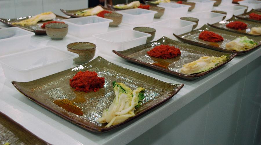 Food Cooking Korean Food Kimchi Preparation  Plate Kimchi Making Cooking Class